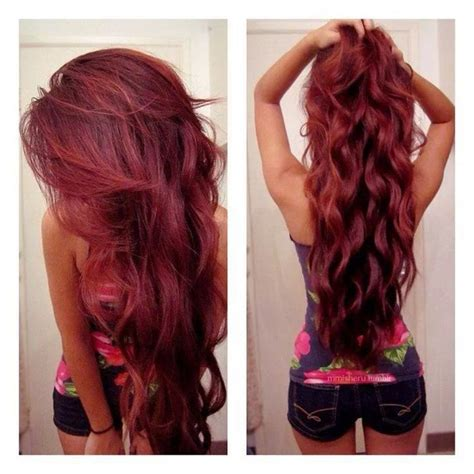 Hairstyles Color Facebook | jolie coloration cheveux rouge framboise coiffures