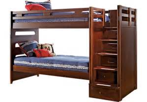 Rooms To Go Bunk Bed League Cherry Step Bunk Bed Beds Wood