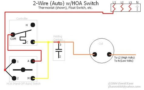 auto switch wiring diagram hoa switch wiring