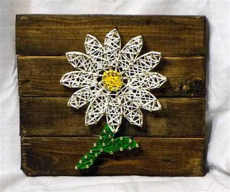 home decor gift string art daisy handmade personalized gifts and home decor