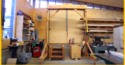 how to build an a frame for a porch swing video build a wooden gantry crane page 2 of 2