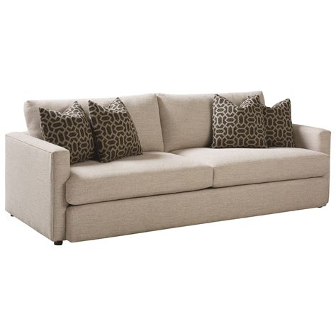 bassett contemporary sofa with track arms hudson