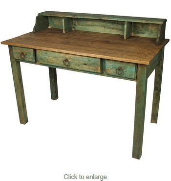 Painted Wood Desk by Painted Wood Mennonite Desk With Drawers