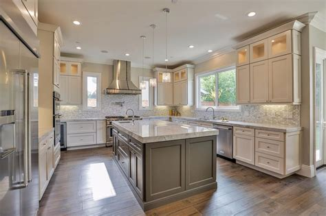 Nice How Much Would A Kitchen Remodel Cost #5: U-shaped-luxury-kitchen-with-marble-countertops.jpg
