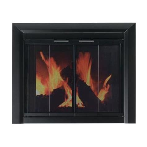 Small Fireplace Glass Doors Pleasant Hearth Clairmont Small Glass Fireplace Doors Cm 3010 The Home Depot