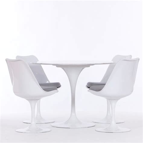 eero saarinen style tulip dining set  table   chairs