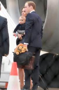 Footstep Royal Backpack prince george gets kangaroo backpack on brief stop in sydney daily mail
