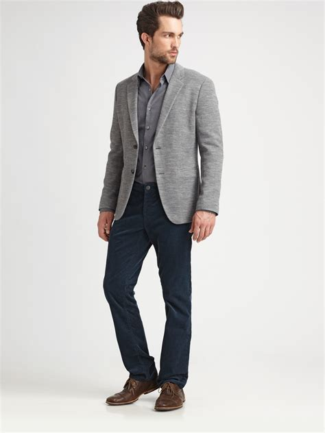 grey blazer theory knit blazer in gray for men grey lyst