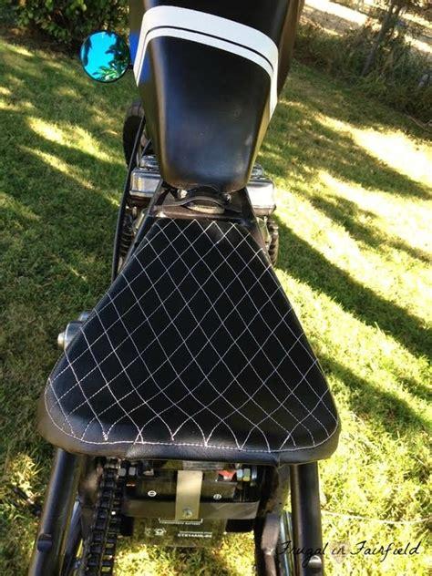 diy bike seat cushion diy motorcycle seat frugal in fairfield