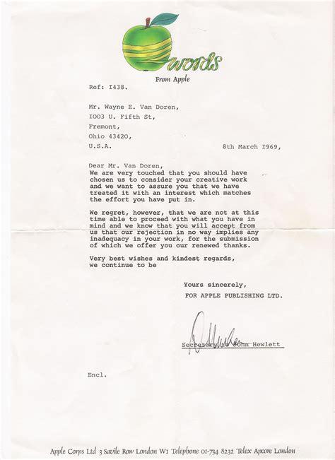 Rejection Letter Mail Mail Order Garage Hangover