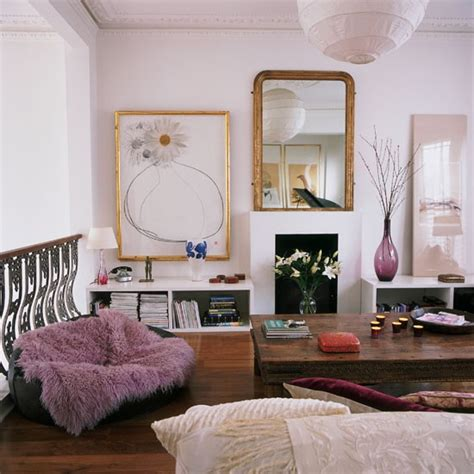 Mauve Living Room Accessories by Eclectic Living Room Step Inside This Dramatic Open Plan