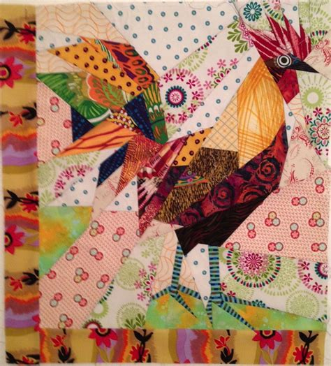 quilt pattern rooster ruth mcdowell quilts art chicken challenge birds of a