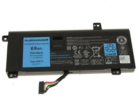 new genuine battery dell 69wh alienware 14 a14 m14x r3 r4 6 cell y3pn0 8x70t g05yj newegg