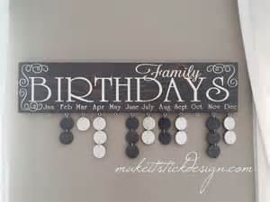 birthday signing board family birthday board celebration board birthday calendar family celebrations grey stained
