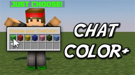minecraft color chat minecraft chat color change the chat color instantly