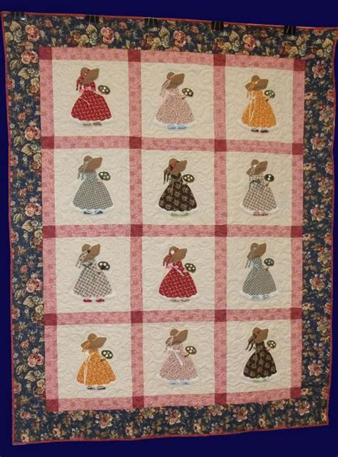 Sue Bonnet Quilt by Strawbonnet Sunbonnet Sue Quilt Pattern By Prairiest633318