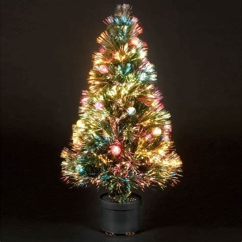 2 75ft 80cm coloured bauble fibre optic christmas tree ebay
