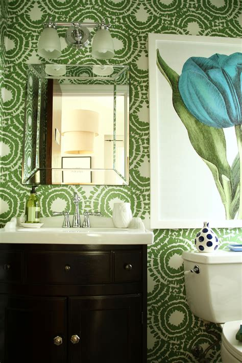 wallpapering  powder room small  space big  style