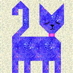 patch cat quilt block pattern