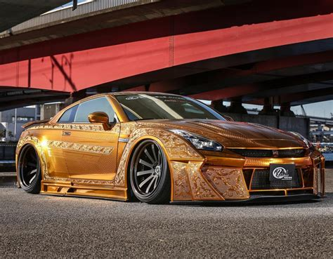 gold cars one million dollar gold plated car nissan gt r x auto news