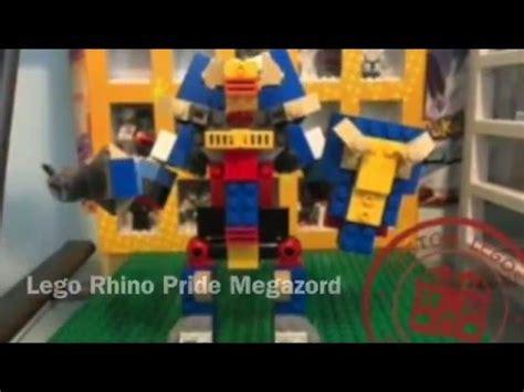 lego rhino tutorial lego rhino pride megazord tutorial youtube