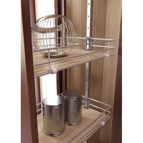 pantry cabinet pull out system with ez dening