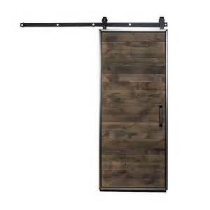Barn Door Hardware Home Depot Rustica Hardware 42 In X 84 In Mountain Modern Wood Barn Door With Sliding Door Hardware Kit