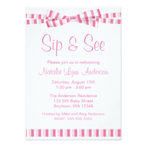 Sip And See Invites 462 Sip And See Invitation Templates Sip And See Invitation Templates