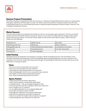 State Farm Business Plan Template 26 Printable Business Proposal Template Forms Fillable Sles In Pdf Word To Download