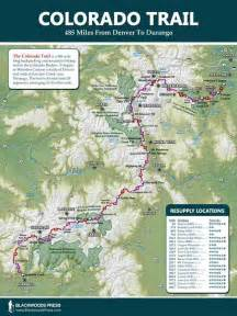 colorado trail wall map discover the 485 mile hiking trail