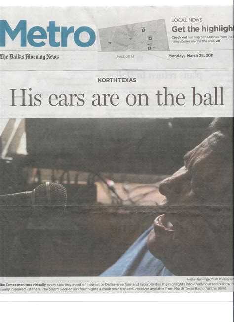 dallas morning news metro section reading radio resource featured in the dallas morning