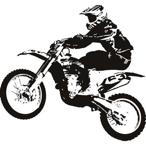 Topi Jaring Print Mx Offroad Trail Mx stunt clipart freestyle motocross pencil and in color