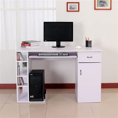 ordenador de escritorio mesa de ordenador tipo escritorio para pc color blanco
