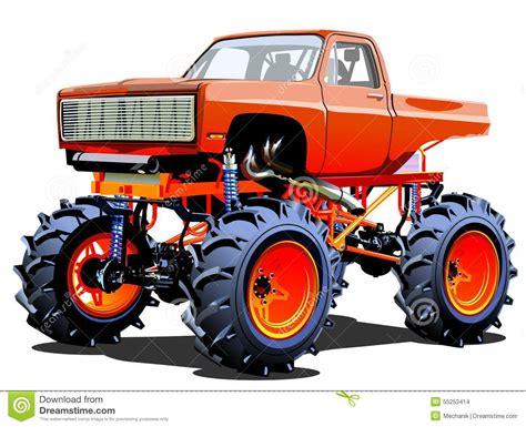 bigfoot monster truck cartoon cartoon monster truck stock vector image 55253414