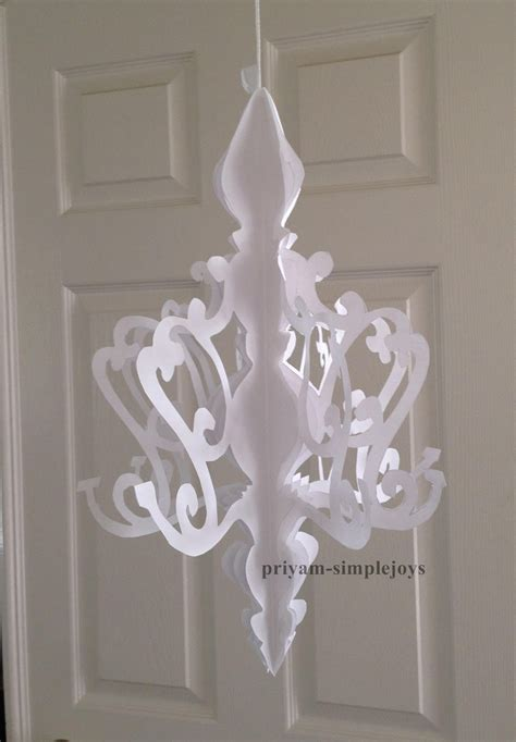 How To Make A Chandelier Out Of Paper - simplejoys paper chandelier