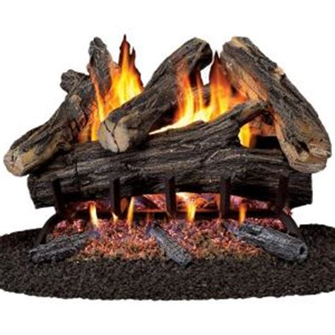 Gas Fireplace Logs Home Depot by Procom 24 In Vented Gas Fireplace Log Set Wan24n