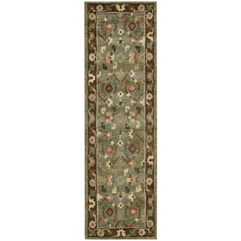 3 x 8 rug runner nourison tahoe 2 3 quot x 8 green runner rug belfort furniture rugs