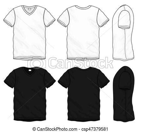 Black White V Neck T Shirt Design Template Vector Vector Search Clip Art Illustration V Neck Shirt Design Template