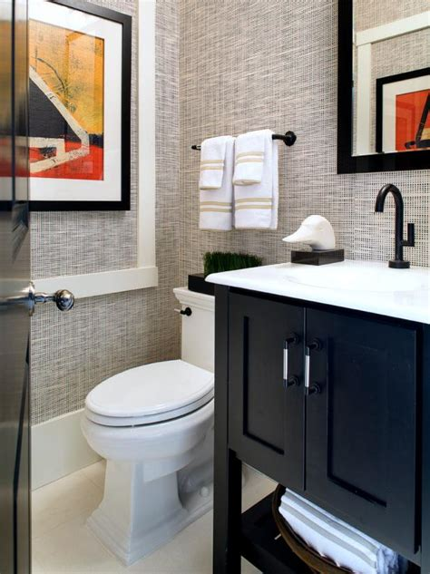 neutral small modern guest bathroom hgtv photo page hgtv