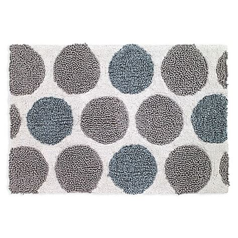 circle bath rug buy avanti dotted circle bath rug in white from bed bath beyond