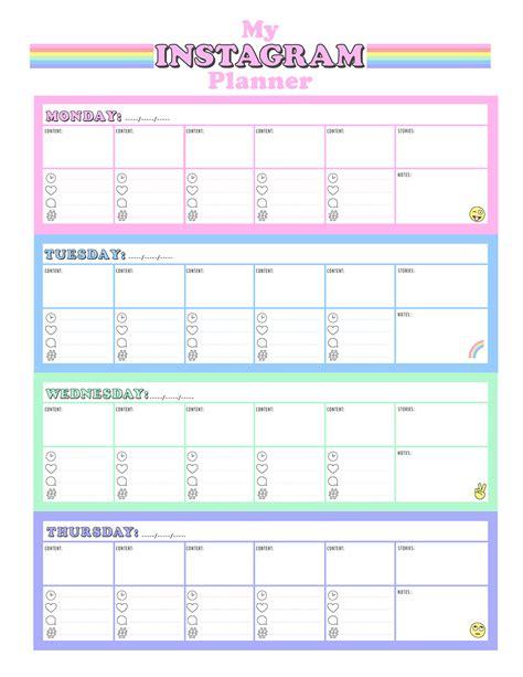 printable planner free printable instagram planner studio diy