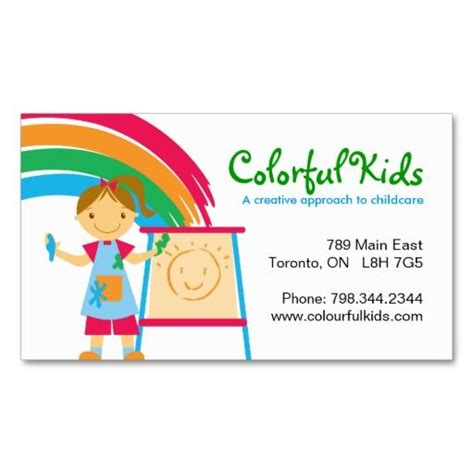 business card template childcare 224 best images about childcare business cards on