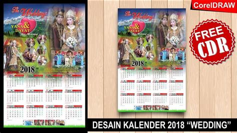 tutorial desain kalender coreldraw desain kalender 2018 dengan coreldraw wedding kalender
