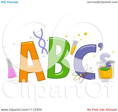 Clipart ABC Letters With Science Items - Royalty Free ... Free Black And White Clip Art Letters