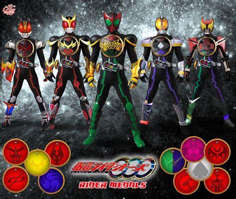 Kamen Rider Ooo Rider Forms Combo Fan Art Kyo Empty Kamen Rider