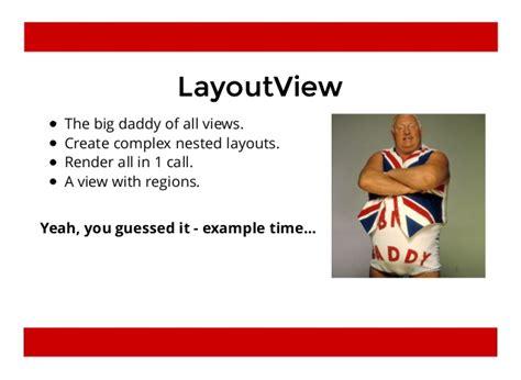 marionette layout view render marionette the backbone framework