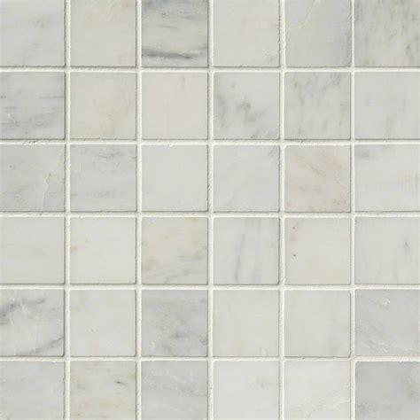 arabescato carrara marble 2x2 honed tile mosaics