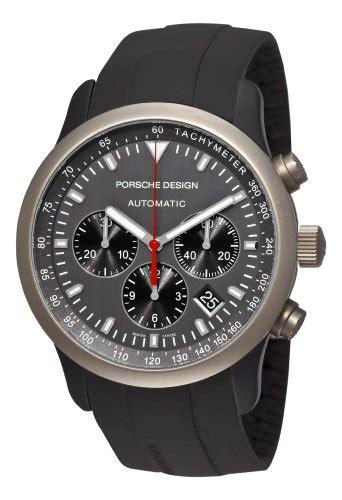 Porsche Design P6612 Dashboard Silver Black Rubber Murah Berkuali porsche design mens 6612 14 50 1139 dashboard p6612 titanium and aluminum grey watch445