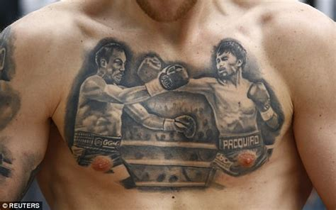 tattoo on pacquiao s chest robbie barrett shows off pacquiao vs marquez tattoo