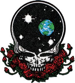 grateful dead space  face die cut patch woodstock trading company